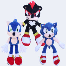 1pcs Sonic Plush Toys Doll 30cm Sonic The Hedgehog & Black Shadow the Hedgehog Plush Stuffed Toys for Children Kids Xmas Gift(China)