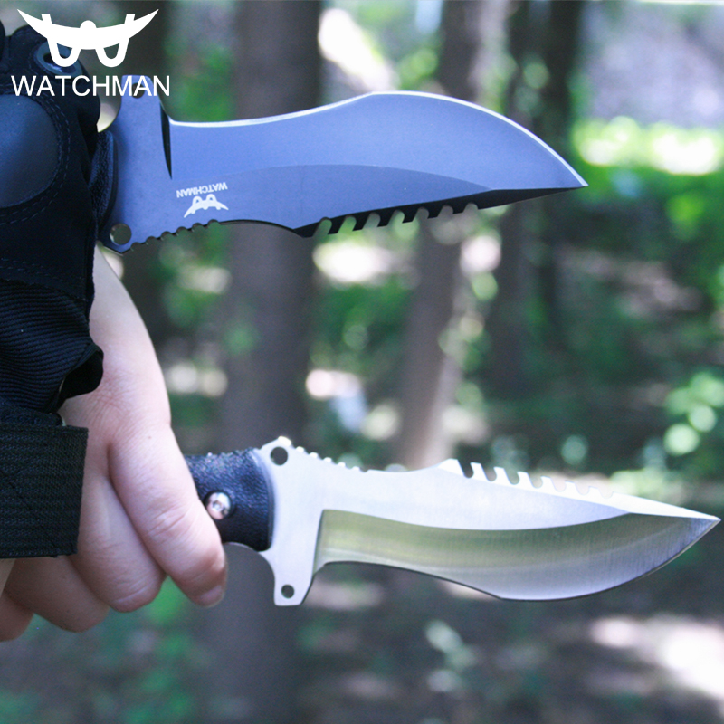 Watchman Knife Fixed Blade Straight knife Tactical knives with Kydex Hunting Survival EDC Tool Collection Factory sale MH133 A in Knives from Tools