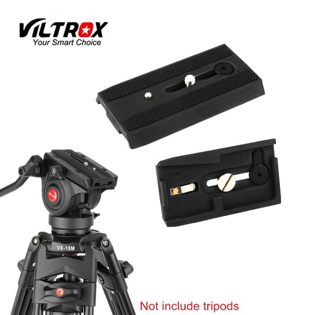 Viltrox VX 18M プロカメラの三脚一脚アルミニウム合金急速スライディング取付けクイックリリースプレート