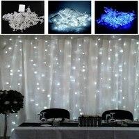 3m 3m 300LEDs Lights Flashing Lane LED String Lamps Curtain Christmas Home Garden Festival Lights 110v