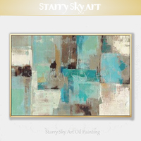 Fashion Colors Hand painted High Quality Abstract Green Oil Painting on Canvas Pop Fine Art Abstract Picture for Wall Decoration