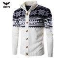 Suéter de Los Hombres 2017 Marca Chaqueta de Punto Casual Masculina Collar Popular Personalizado Slim Fit Knitting Suéteres Para Hombre Hombre chaqueta de Punto de Los Hombres XXL FMWE