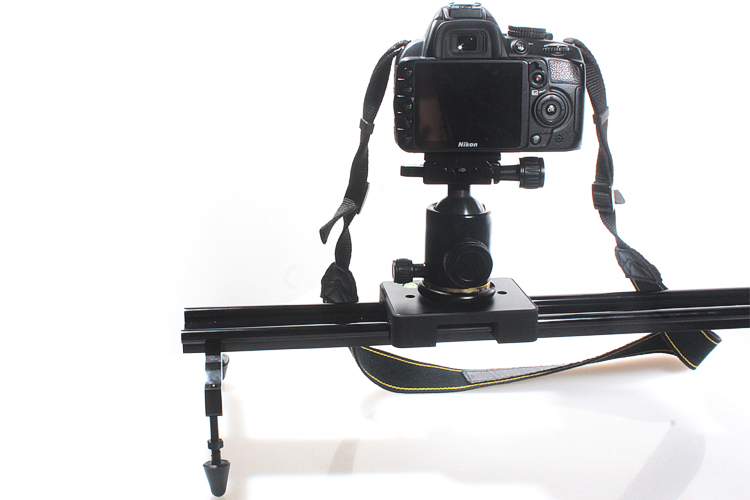 COMMLITE CS SL120 Sliding Pad Video Track Slider Dolly Slider Video Stabilizer System 120CM 48Inch for All Cameras Camcorders