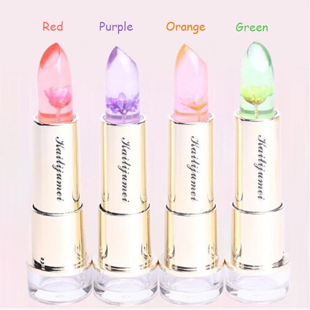 4 Colorslot Changeable Lipstick Moisturizer Transparent Flowers