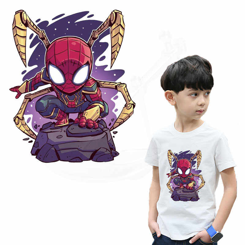 9674519ab1567 Cartoon spiderman Patch for clothing 25*20.5 cm iron on patches Diy ...
