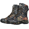 Outdoor Adventure Hiking Trekking Shoes Waterproof Mountain Boots Camo Hunting Camouflage Fabric Leather Tactical Boot TA2-004