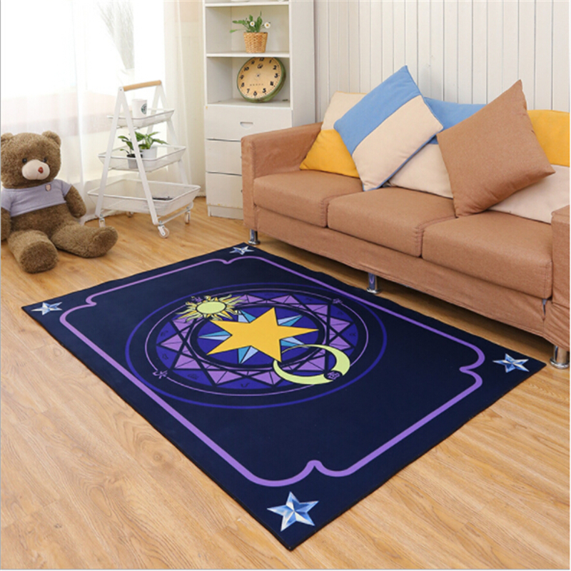 Lovely Kid Star Array Creative Polyester Printed Carpets For Living Room Bedroom Kid Room Rugs Area Home Floor Carpet Rug Door
