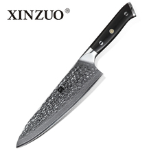 XINZUO 8.5 in Chef Knife High Carbon Damascus Japanese Steel Kitchen Cook Knives Cleaver Slicing Best Home