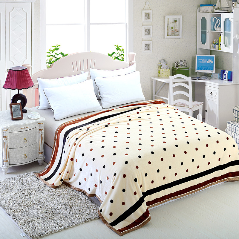 High Quality Throw Blanket Coral Fleece Blanket On The Bed Soft Winter Flannel Blanket For Sofa 200x230cm Warm Bedspread