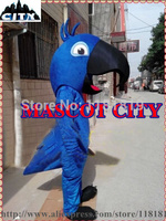 MASCOT Blue Blu Parrot Mascot Costume Cartoon Character Carnival Cosply Mascotte Mascota Fancy Dress Suit