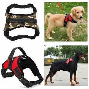 Image 2 - Nylon Heavy Duty Dog Pet Harness Collar Adjustable Padded Extra Big Large Medium Small Dog Harnesses vest Husky Dogs Supplies