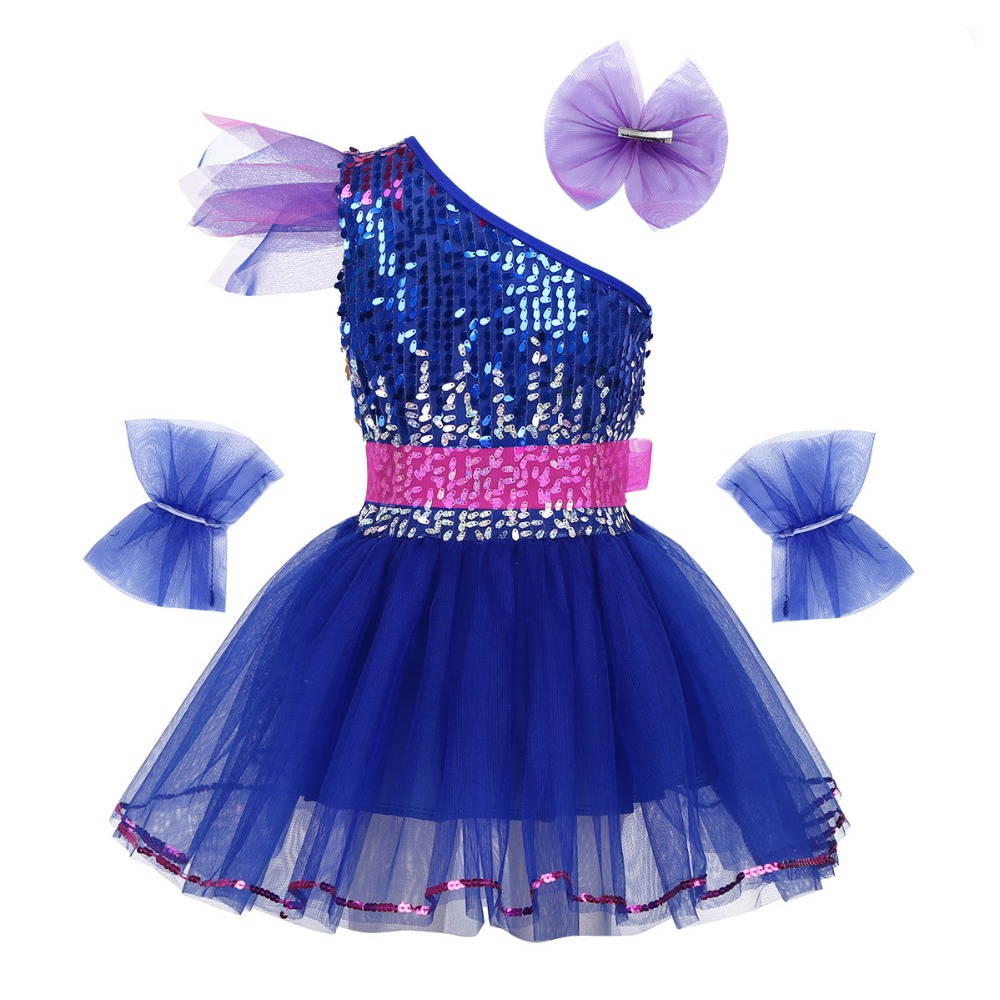 Sequins  Children Latin ballet Dance Dress Girls Leotard Dancewear costume