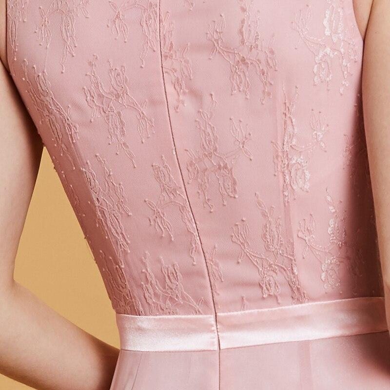 Купить женское вечернее кружевное платье русалка tanpell розовое с