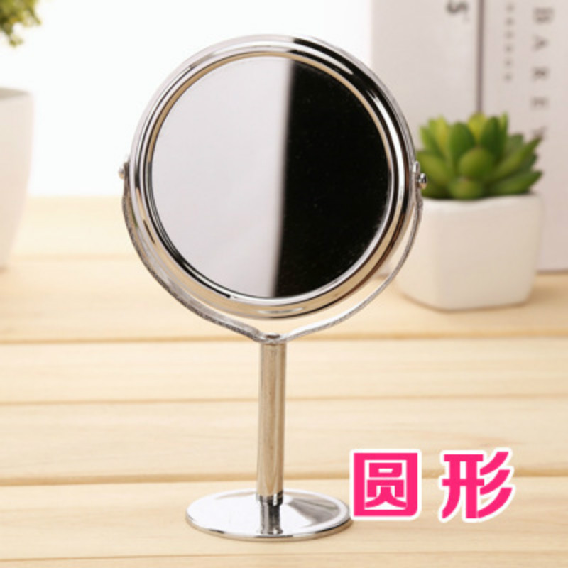 Women Beauty Makeup Mirror Dual Side Rotatable Stand Compact Oval Round Shape Mirror Make Up Cosmetic Mirror Makeup Tools