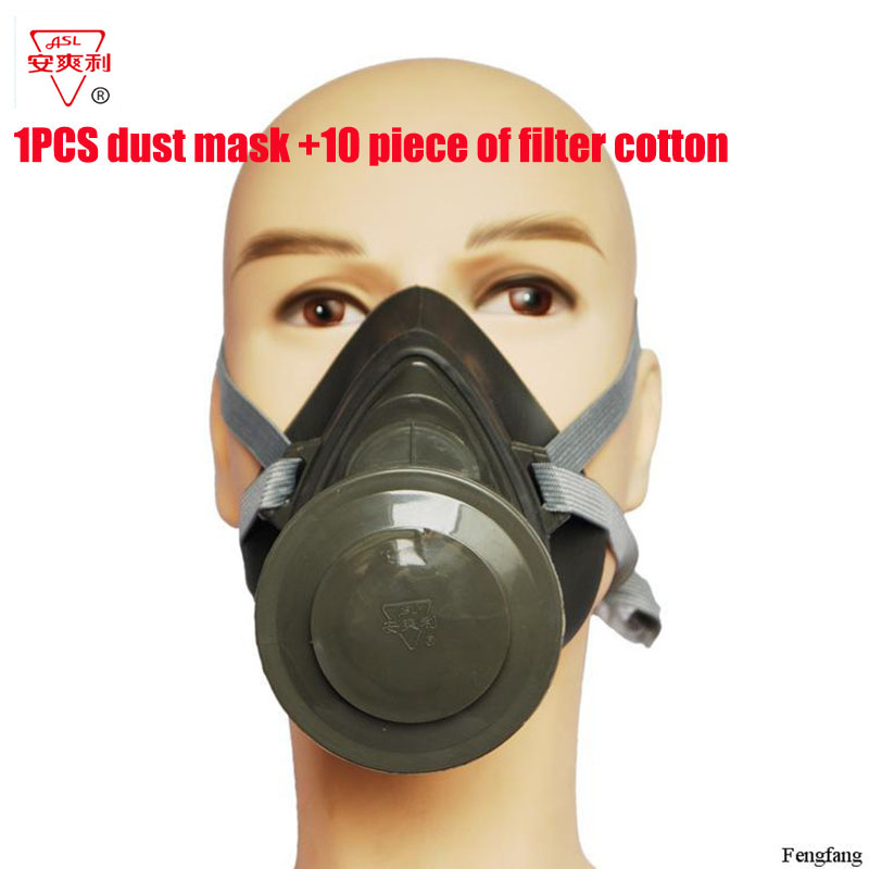 цена на respirator dust mask N95 Silicone Filter cotton dust mask PM2.5 dust smoke anti pollution respirator mask Free shipping