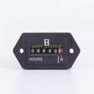 Постоянный ток 10В ~ 80В, герметичный, для грузовиков, тракторов, дизельных, подвесных двигателей, счетчик часов, прямоугольная, с прямоугольны...