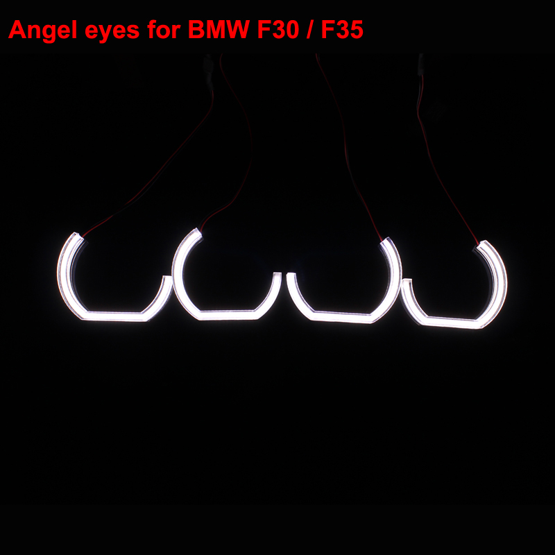 Angel Eyes Crystal Light SMD LED Headlights Pipeline Light  Running Light  DRL For F30 F35 - One Set free shipping 1 set 2x 120mm 2x 128 mm f30 f35 crystal led angel eyes for bmw