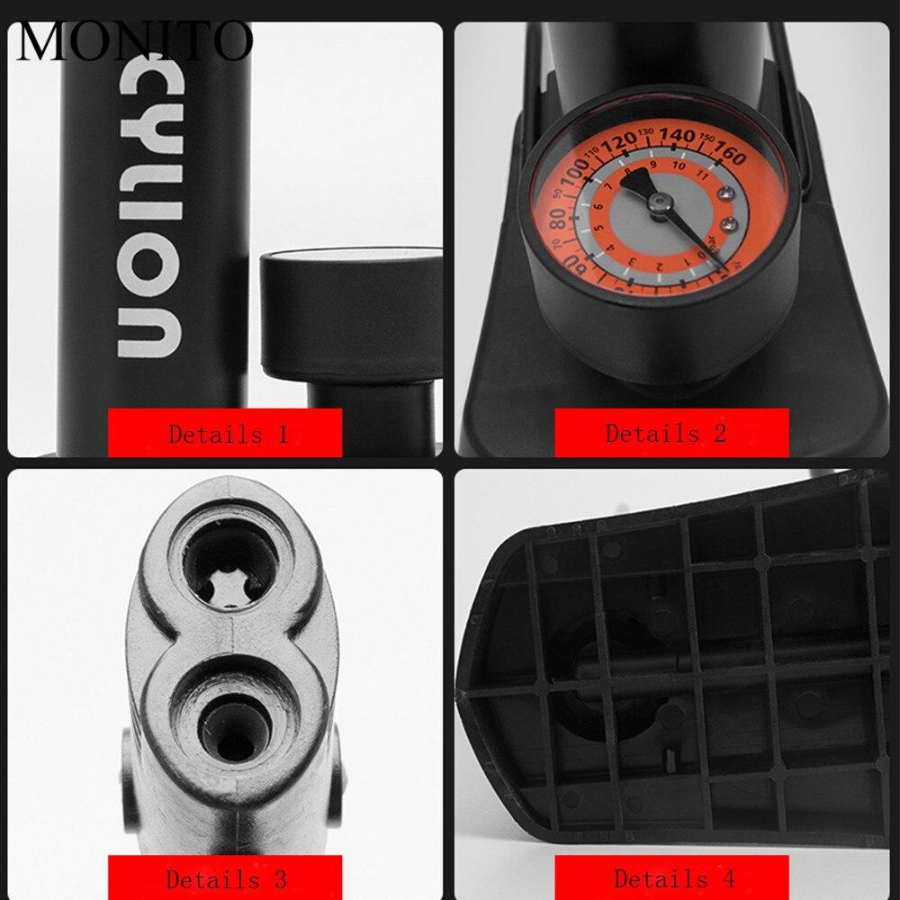MTB Road Bike Bicycle Tire Pump Air Inflator Tube Dual Head Valves Adapters MX