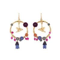 Gold Flying Bird Round Fish Hook Earring Fashion Jewelry Sieraden Joyas Jewellery Boucle D Oreille Earings Bridesmaid CC Earing
