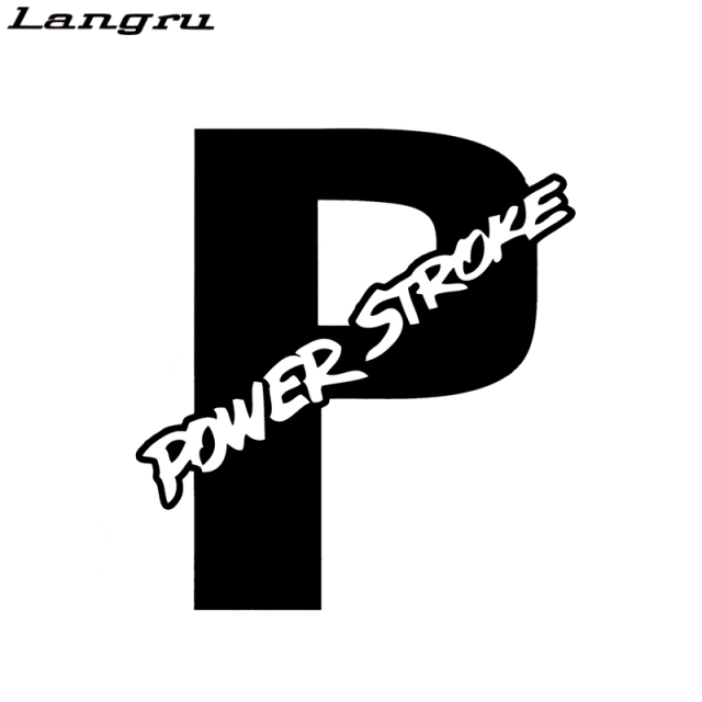 Langru international powerstroke power stroke sticker car styling super vinyl decal decorative art jdm