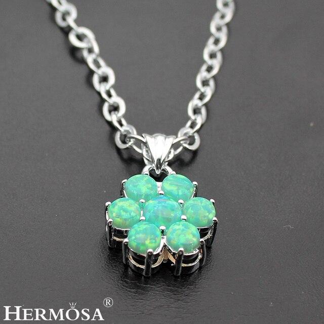 Hermosa jewelry fantastic flower design mystical green opal xmas hermosa jewelry fantastic flower design mystical green opal xmas gifts 925 sterling silver pendants hf591 aloadofball Choice Image