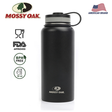 MOSSY OAK 32Oz Sports Water Bottle Stainless Steel Vacuum Insulated Wide Mouth Leak-Proof Double Wall with 3 Lids