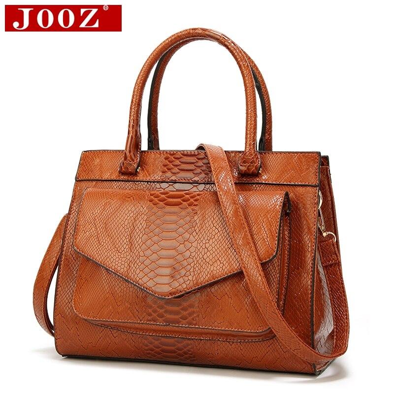 JOOZ nouvelle mode femme sac Luxe cuir Serpentine femmes en cuir sacs à main avec pochette dames tronc fourre-tout bolsos femmes messenger sac