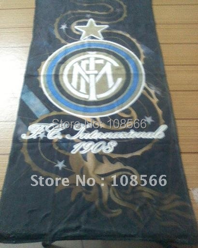 inter milan black rectangle sports towel  /  new arrival microfiber  towel