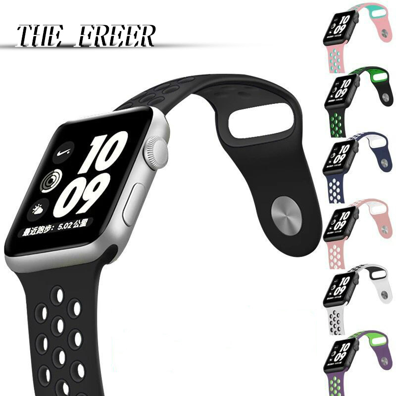 10pcs/lot Sport Silicone band strap for apple watch 42mm 38mm bracelet wrist band watch watchband For iwatch smart Accessories jansin 22mm watchband for garmin fenix 5 easy fit silicone replacement band sports silicone wristband for forerunner 935 gps