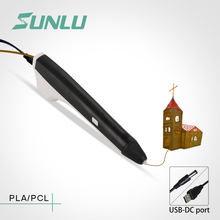 ФОТО sunlu 3d pen modeling pla/pcl filament 1.75mm printing drawing doodler artcrafts pens with safe temperature best gift for kids