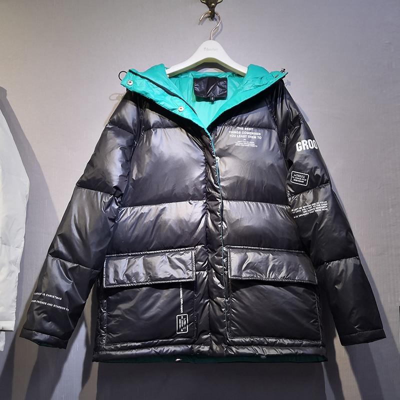 Winter Coat Women 2019 Women Down Jacket Female Hooded Overcoat Jacket Thickening Loose Down Coat Outwear White Duck Down Jacket