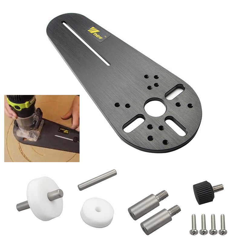 Circle Cutting Jig for Bosch Makita Electric Hand Trimmer Wood Router Woodworking Milling Circle Milling Groove with Logo