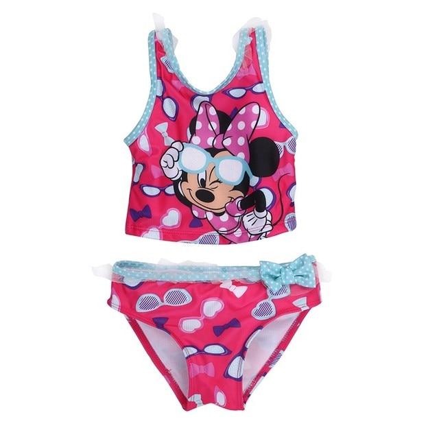 Summer New Baby Girls Two-Piece Swimsuits Kid Toddler Cartoon Bathing Tankinis Bikini Swimwear Bathing Swimsuit 3-7T