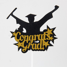 Cake Flags Congrats Grad Cupcake Cake Topper Toppers Kids Ծննդյան հարսանիք Հարսնացուի Cake Wrapper Party Baby Shower թխում DIY Xmas