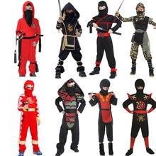 fa8d70c96793a2 Cosplay Doek Kostuum Kinderen Mysterieuze Ninja Outfit Jongens Samurai Pak  Meisje Prachtige Samurai Kostuums Warrior Nachtelijke