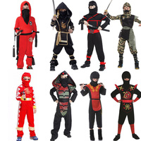 Cosplay Cloth Costume Children Mysterious Ninja Outfit Boys Samurai Suit Girl Gorgeous Samurai Costumes Warrior Nocturnal