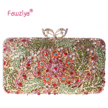 Fawziya Floral Purses And Handbags Leaf Clutch Purse Leaf Crystal Evening Clutch Bags