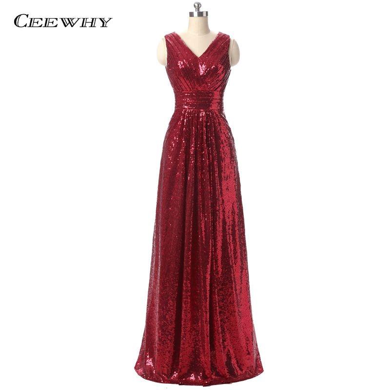 CEEWHY Burgundia põrandapikkus V-kaelusekollane must õhtukleit pikkade pruudi bankettide jaoks elegantne Criss-Cross prom kleit Robe de Soiree