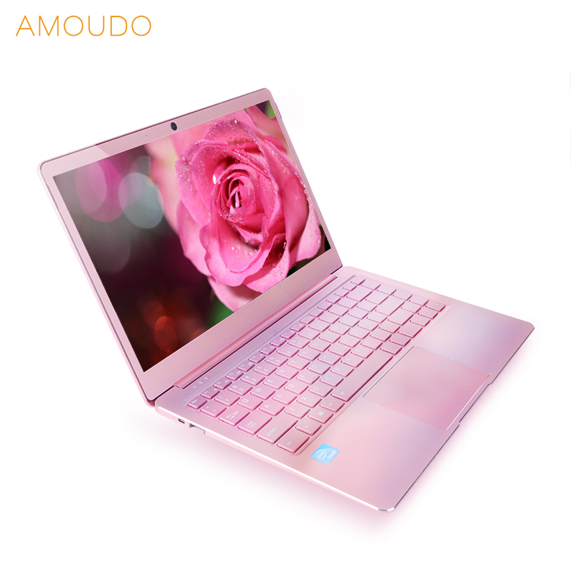 14 polegada 1920*1080 P Tela FHD IPS 8 GB de Ram 256 GB SSD Intel Apollo Lago CPU Rosa cor Ultrafino All Metal Computador Notebook Laptop