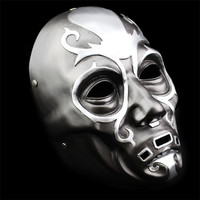 Wholesale New 100% Resin Cosplay Movie Replica Black Harry Potter Death Eater Mask Hand Made Horror Halloween Mask Holiday Gift