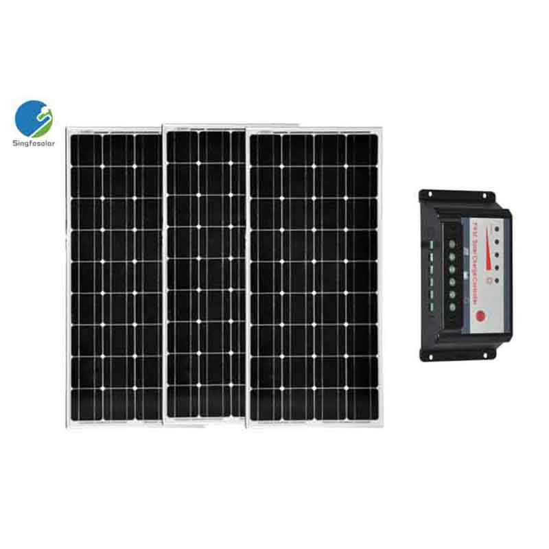 Solar Panel Kit 300W 3 100W Solar Panel 18V 12V Battery Charger PWM Solar Charge Controller 30A 12 24V Motorhome Boat Camp in Solar Cells from Consumer Electronics