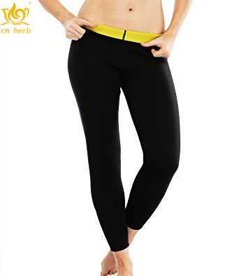 Cn Herb Women Ankle-length Slimming Long Pants Neoprene Sweat Sauna Body Shapers