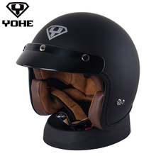 YOHE-YH-859 Мотоцикл Ciclismo Шлемы Мотоцикл Шлем Ece Capacete Каско Половина открытый шлем Vintage шлем