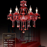 Indoor Lamp Modern Crystal Chandelier Living Room Red Chandelier Decoration Tiffany Pendants and Chandeliers Home Lighting