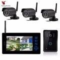 Yobang безопасности беспроводной видео дверной звонок видео домофон для наблюдения телефон двери + 3 Наружные камеры безопасности CCTV системы б...