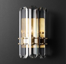 Retro American style LED Wall Light Fixture Crystal Sconce Lustres Beside Lamps for Bedroom Bathroom
