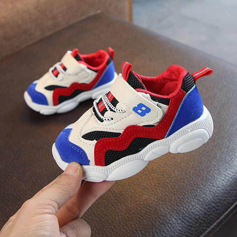 2019 Kinderen Schoenen Jongens Sneakers Sport Schoenen Anti-slip Loopschoenen Zachte Sneaker Kids Casual Flats Meisjes Mesh Sneakers loafers