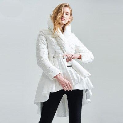 Down Conception Ayunsue Asymétrique 2018 Européenne Lx2227 Longueur Mode white Capuchon Le Veste Femmes Piste Long Hiver Outwear De Black Vers Bas À Manteau tshrCxQd