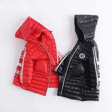New Spring Winter Girls Down Parkas Brand Casual Outwear Thin Hooded Down Coat for Boy Kids Jacket Overcoat