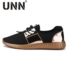 Couple Air mesh Glossy Gold Men Casual Shoes Summer Fashion Breathable Durable Outdoor Lace-Up sapatos casuais trainers Unisex